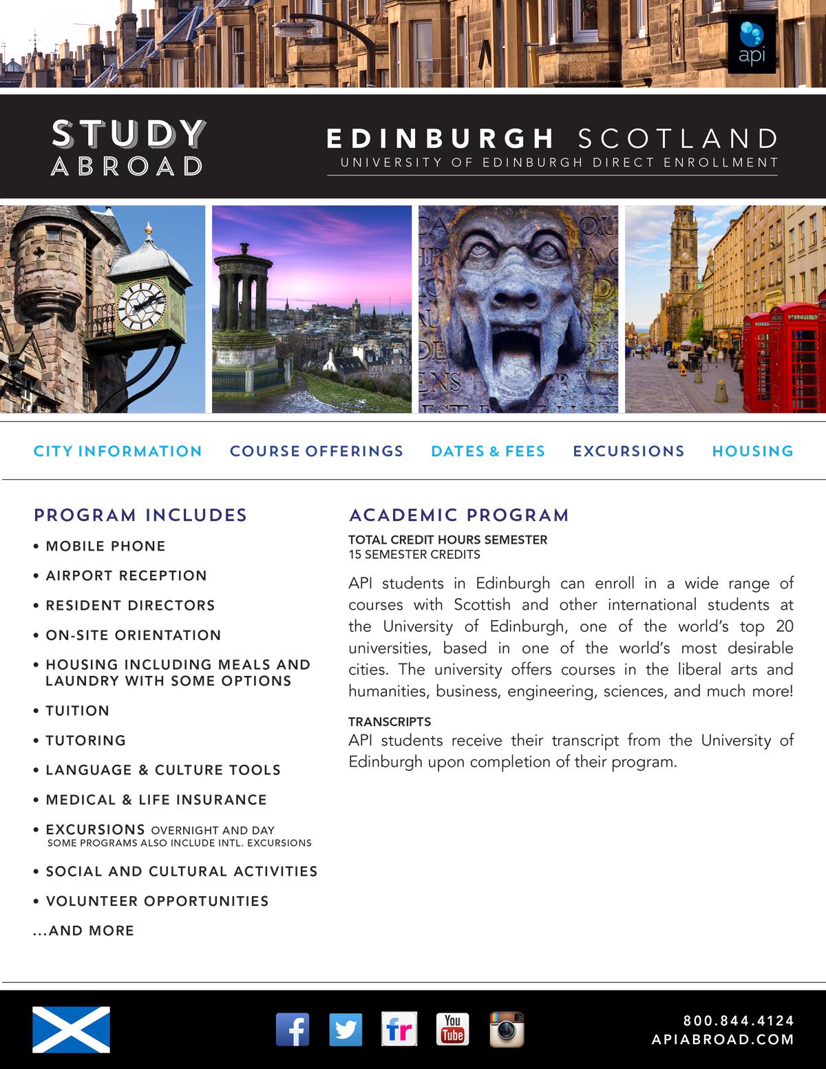 Programs brochure ucf abroad - University of edinburgh international office ...